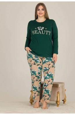 Battal Boy Lady 11304 Büyük Beden Uzun Kol Pijama Takımı