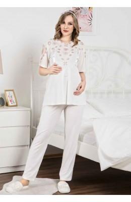 Erdeniz 1102 Lohusa Hamile Pijama Takım - Erdeniz Dilan Tekstil