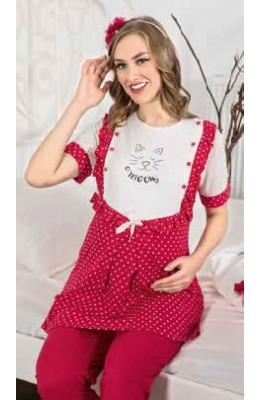 Erdeniz 3317 3lü Lohusa Hamile Pijama Takım