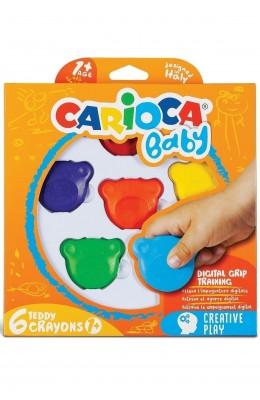 Hayal Sepeti Teddy Baby Crayons Boya 6'lı +1 Yaş 42956