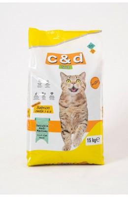 Hayal  Sepeti Yetişkin Kedi Maması 15KG SOMON Balıklı YENİ ÜRÜN   PREMİUM OMEGA 3&6