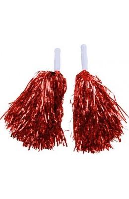 Metalik Kırmızı Amigo Ponpon 10 çift  ÜCRETSİZ KARGO