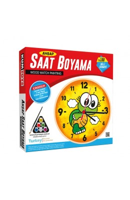 Kumtoys Ahşap Saat Boyama Kaplumbağa - Orijinal Ürün