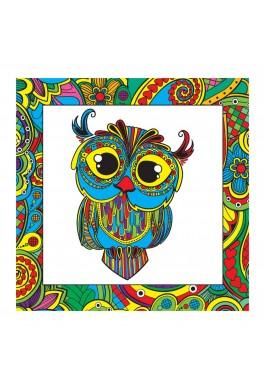 Kumtoys Baykuş Desenli Tuval Mandala Orjinal Ürün