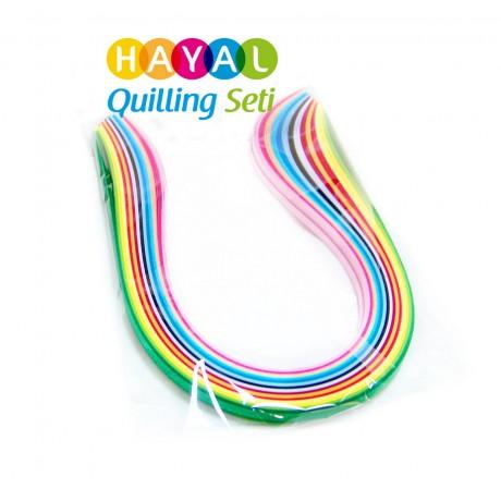5mm 15 Renkli 300 Adetli Quilling Kağıdı