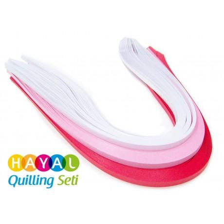 Aşk Serisi 3 Farklı Renkli 300 Adetli Quilling Kağıdı