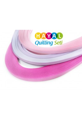Erguvan Serisi 3 Farklı Renkli 300 Adetli Quilling Kağıdı