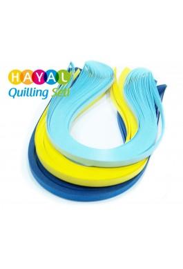 Kanarya Serisi 3 Farklı Renkli 300 Adetli Quilling Kağıdı