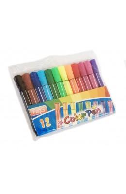 12 Renk Kalın Uçlu Keçeli Kalem