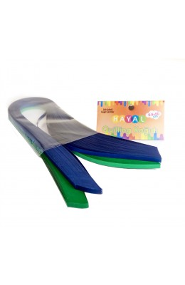 Quilling Kağıdı - Lacivert ve Yeşil Renk 200'lü