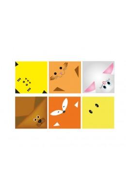 Origami kağıdı - Origami Hayvan Yüzleri Yapımı