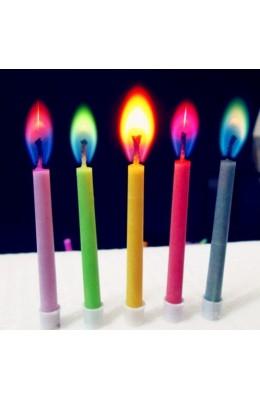 Renkli Yanan Doğum Günü Pasta Mumu