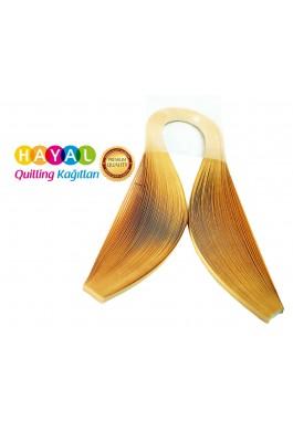 Quilling Kağıdı - Nubuk Sarı Renk 1,5 mm 100'lü