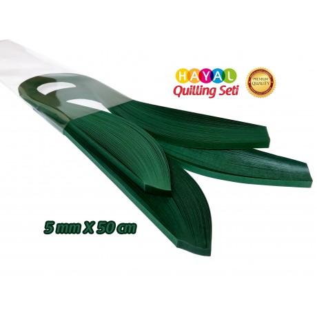 Quilling Kağıdı Tek Renk - Petrol Yeşili Renk 200'lü