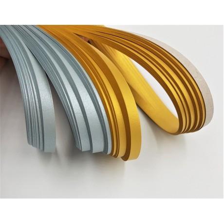 5 mm Altın Sarı Rengi Sedefli Hayal Quilling Kağıdı-5 mm Sedefli Quilling Kağıtları